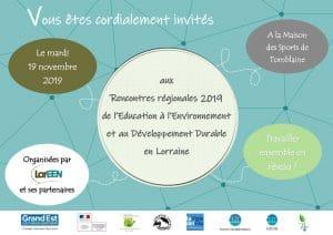 Rencontres régionales 2019 de l'EEDD en Lorraine